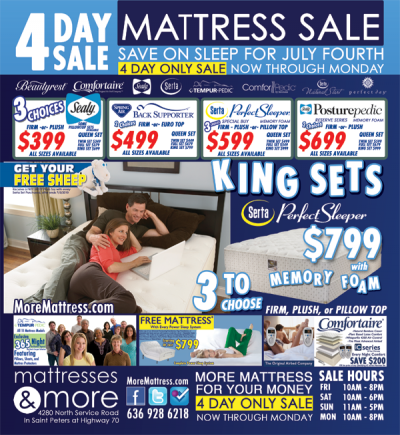 Mattresses & More July 4th Four Day Sale