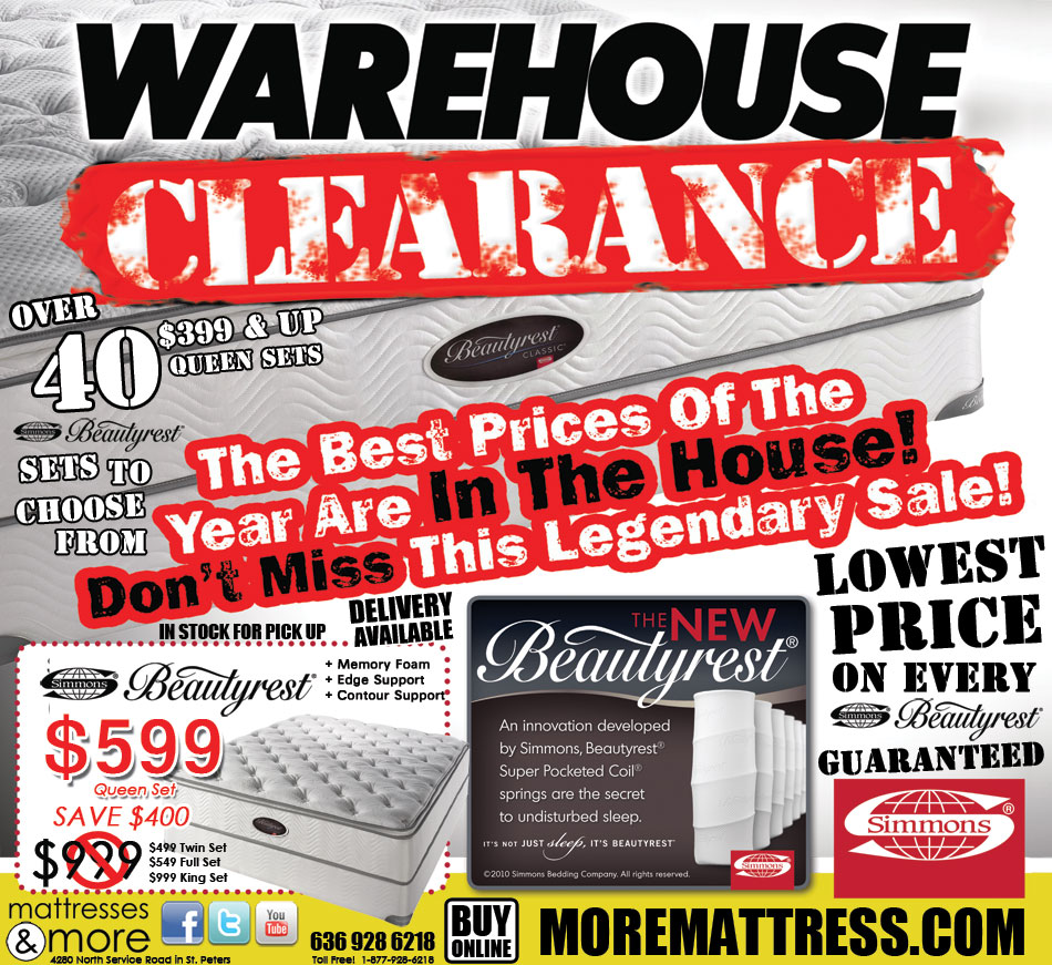 Mattresses & More WAREHOUSE CLEARANCE
