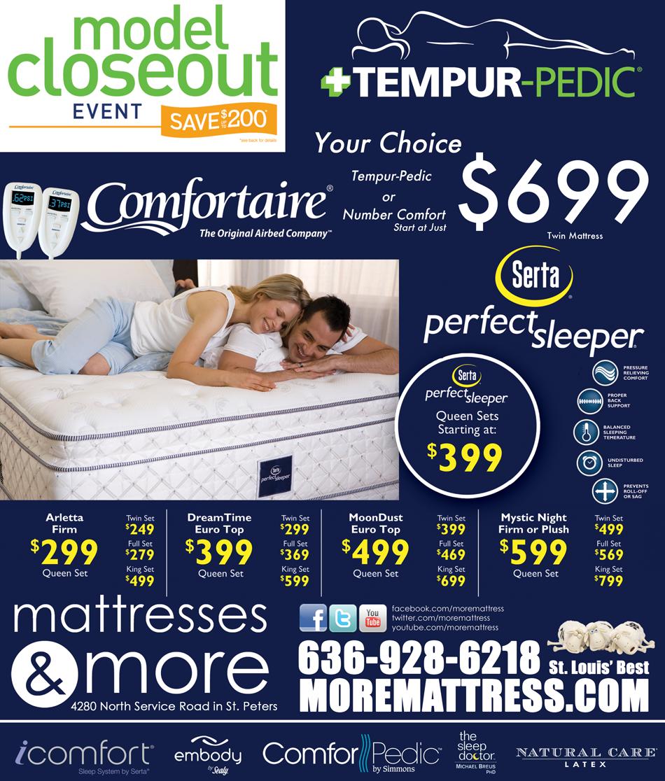 Closeout Tempurpedic Bed Mattress Sale