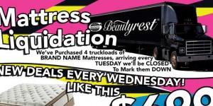 Mattress Liquidation - Truckload SALE